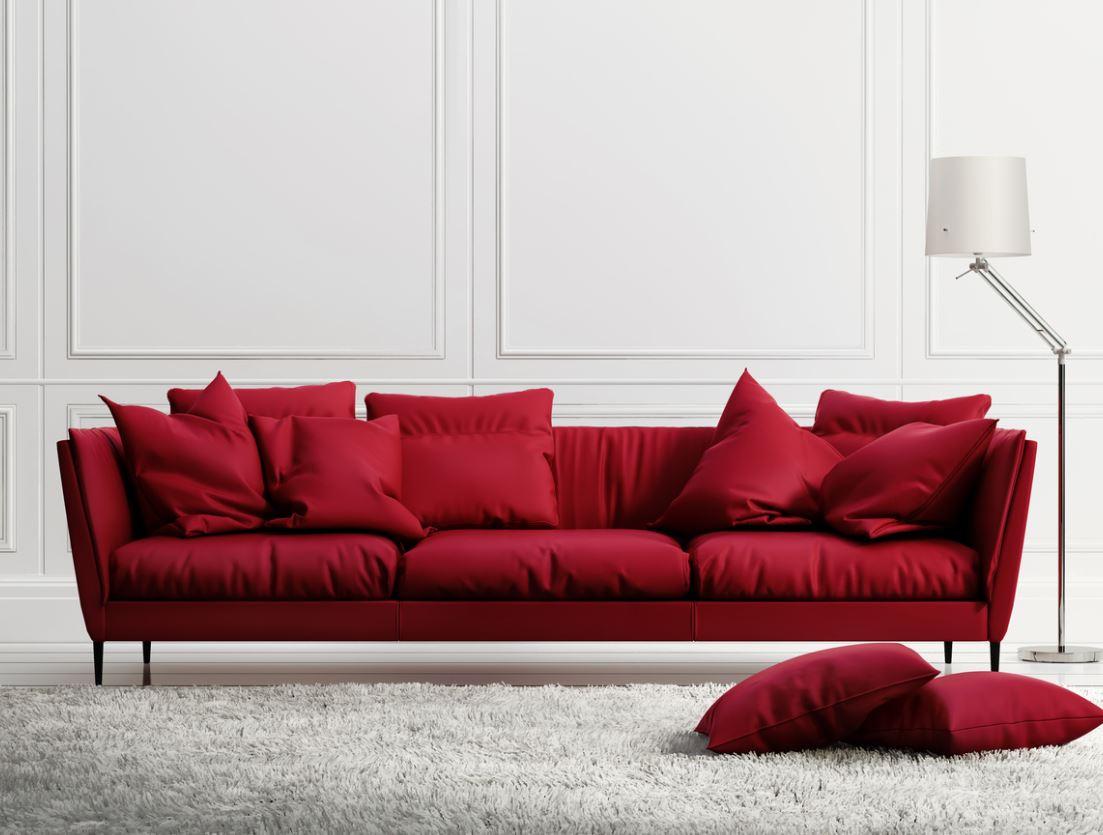 Salon En Rouge Et Blanc