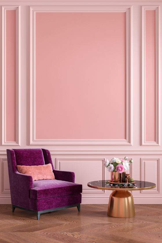 Salon Rose Et Violet Version Vintage Chic