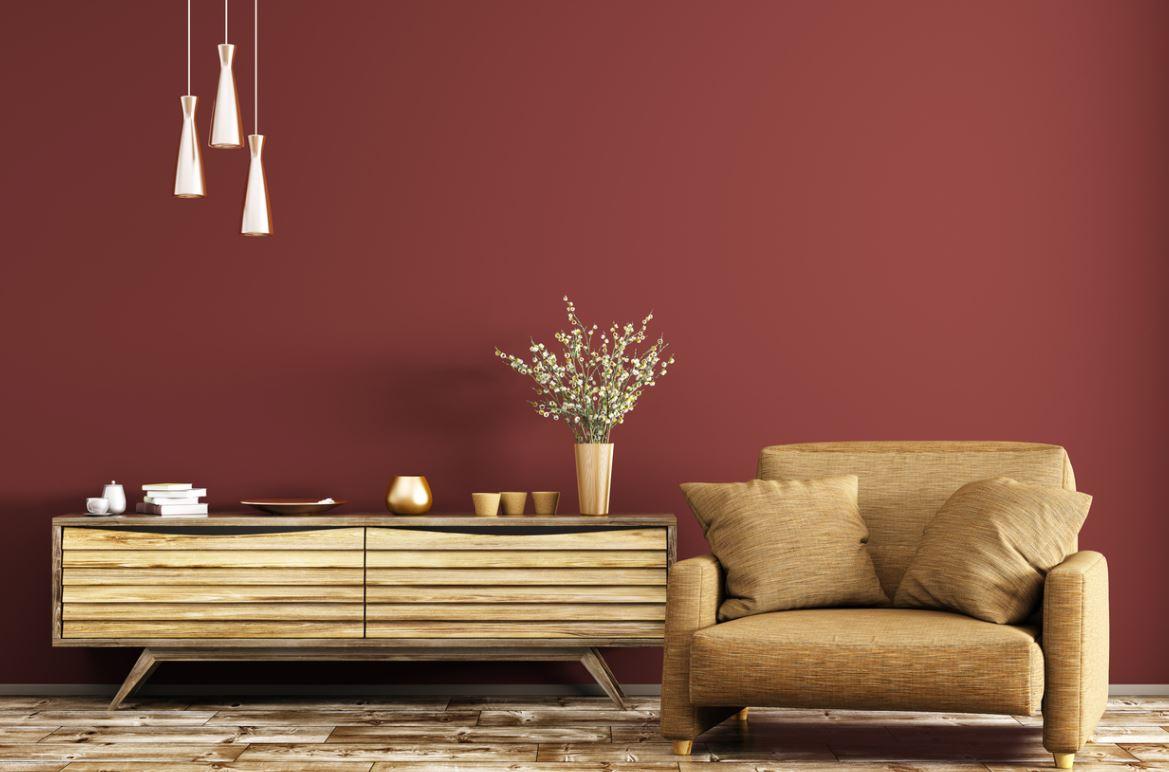 Salon Rouge Avec Mobilier Doré