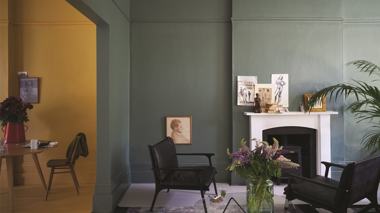 Salon Vert Et Jaune Moutarde