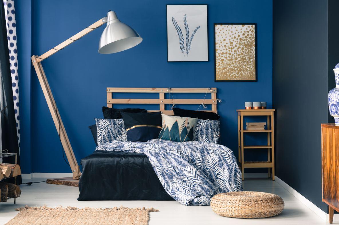 Total Look Bleu Dans Une Chambre à Coucher