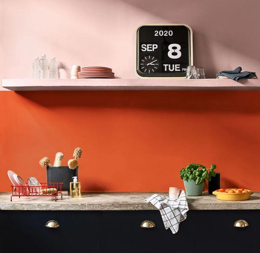 Cuisine Peinture Orange