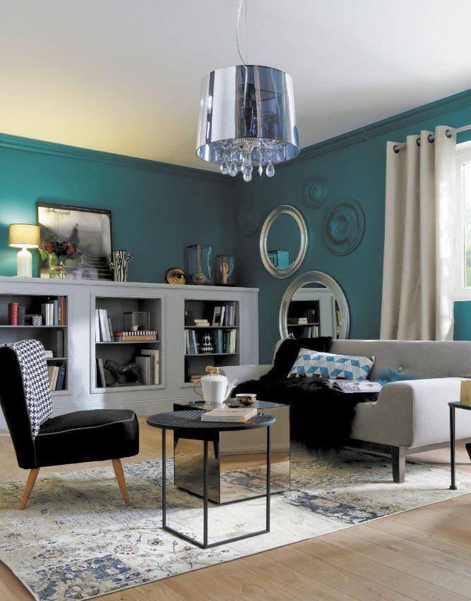 Salon Bleu Canard Inspiration Baroque