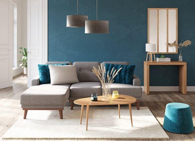 Salon Bleu Canard Inspiration Nordique