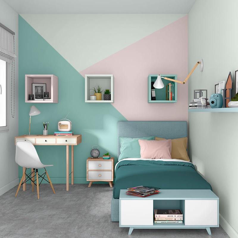 Chambre Ado Pastel Et Vert Canard
