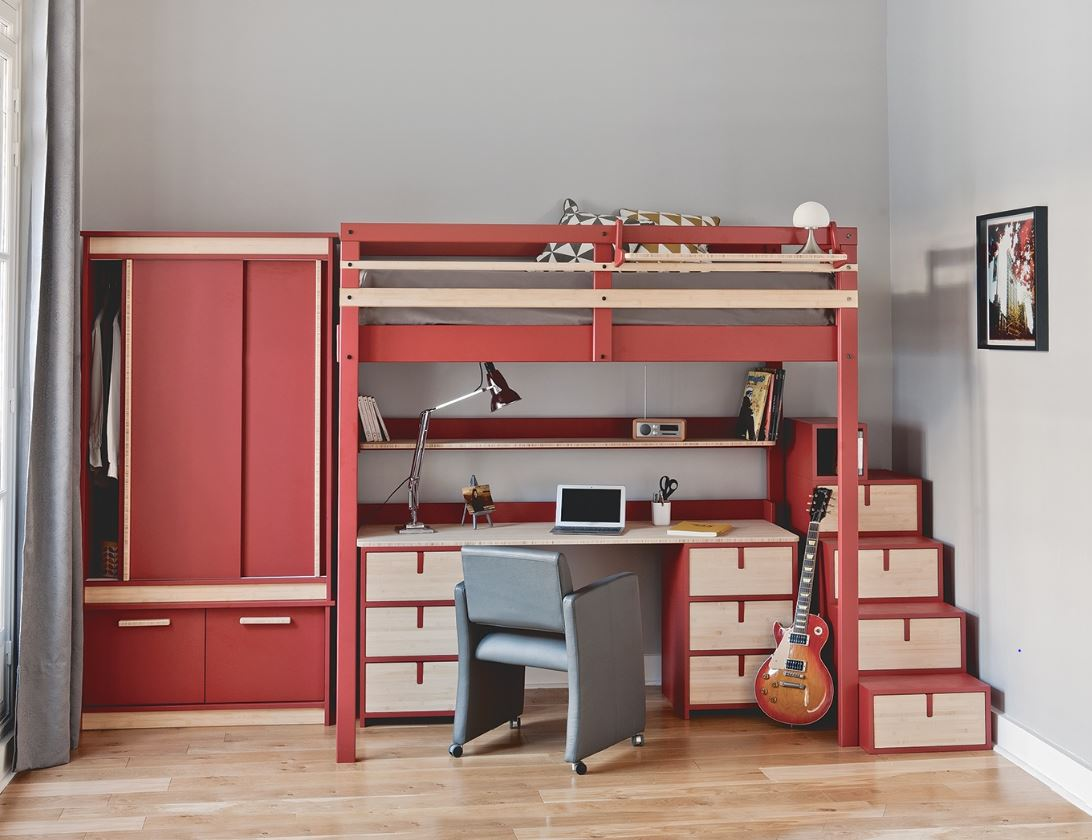 Lit Mezzanine Pour Chambre Studio Ado