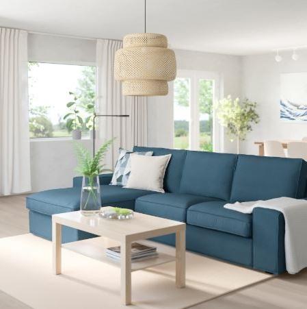 Canapé 3 Places Modulable Bleu