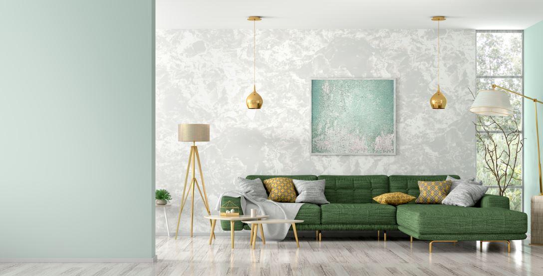 Canapé D'angle Design En Vert