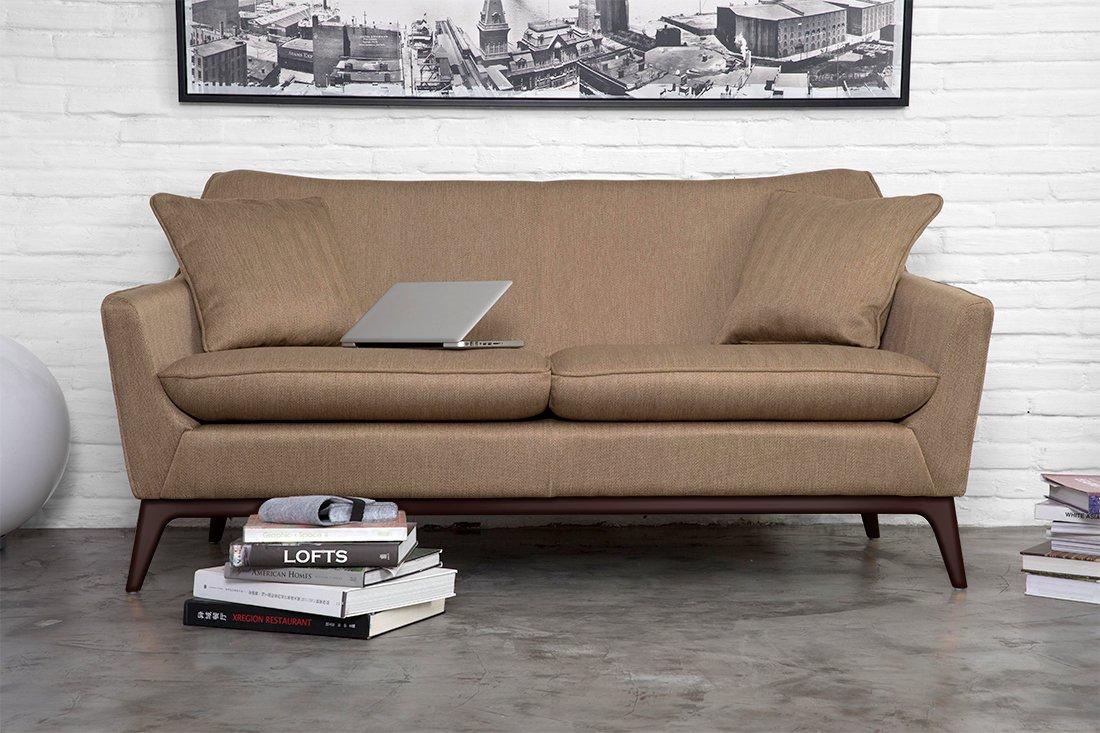 Canapé Design D'inspiration Asiatique En Brun