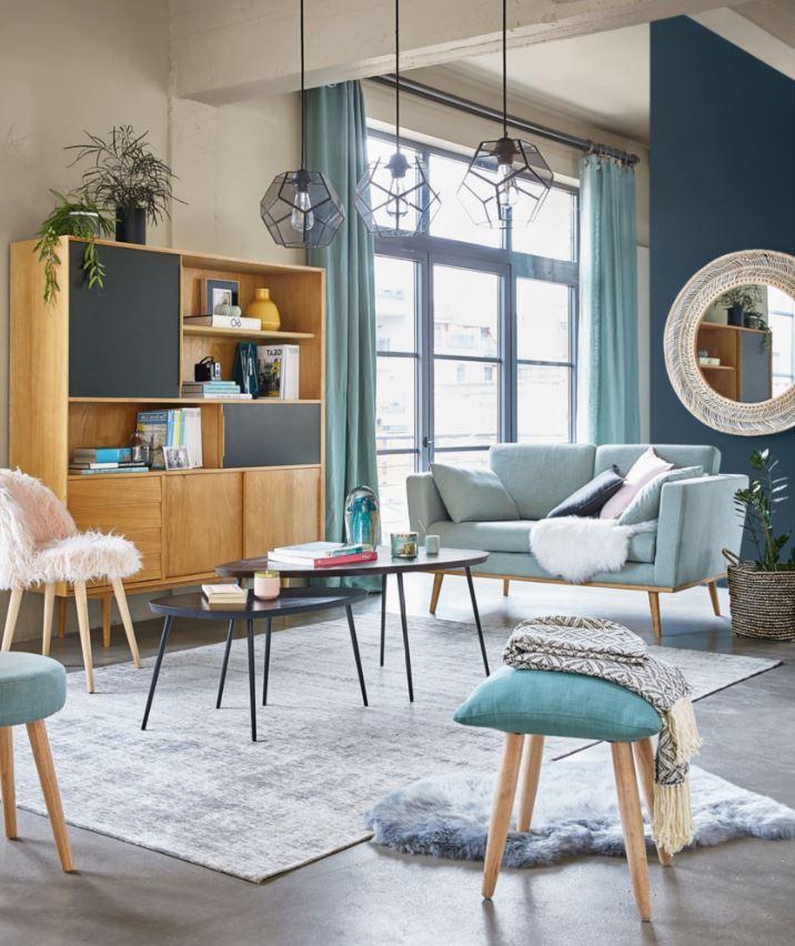 Canapé Design Vintage Vert De Gris