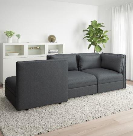 Canapé Modulable Avec 3 Places Et Sans Accoudoir