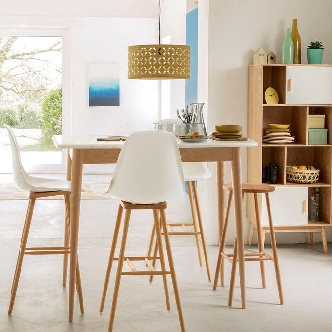 Chaises De Bar Blanches Au Style Inspiré Des Maisons Nordiques