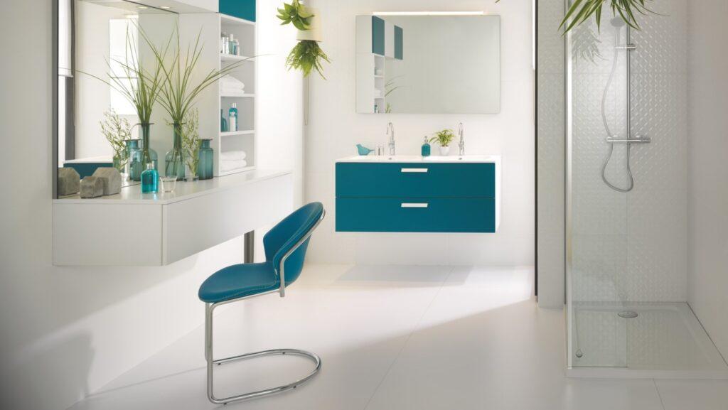 Salle De Bain Moderne Bleu Mobilier Arcos