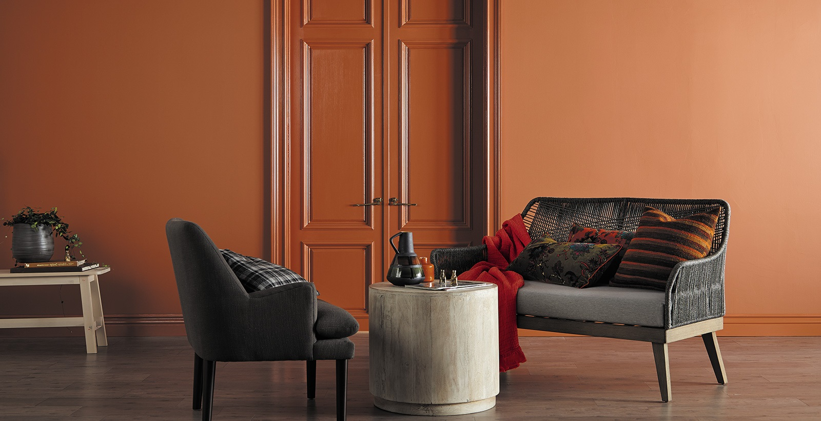 Orange Marron Classique Chic