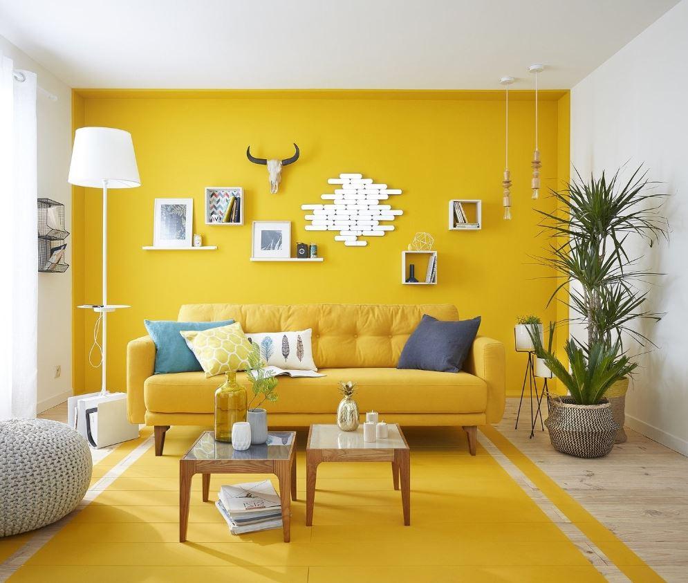 Salon Moderne Jaune