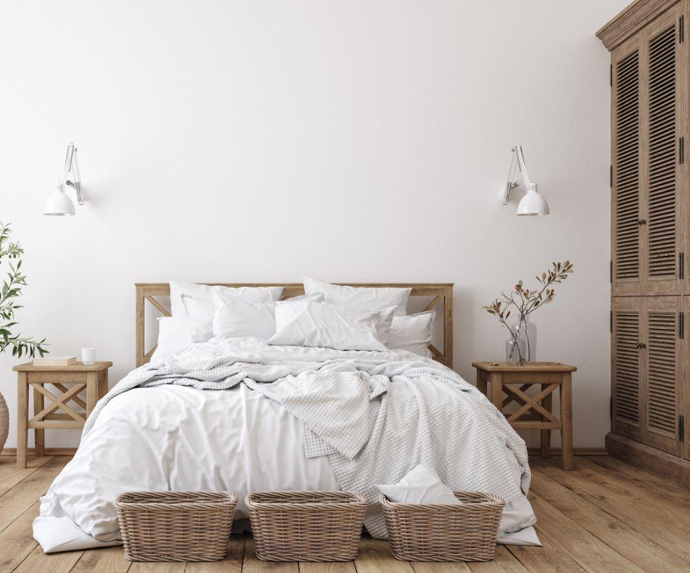 Chambre Claire En Bois Et En Blanc