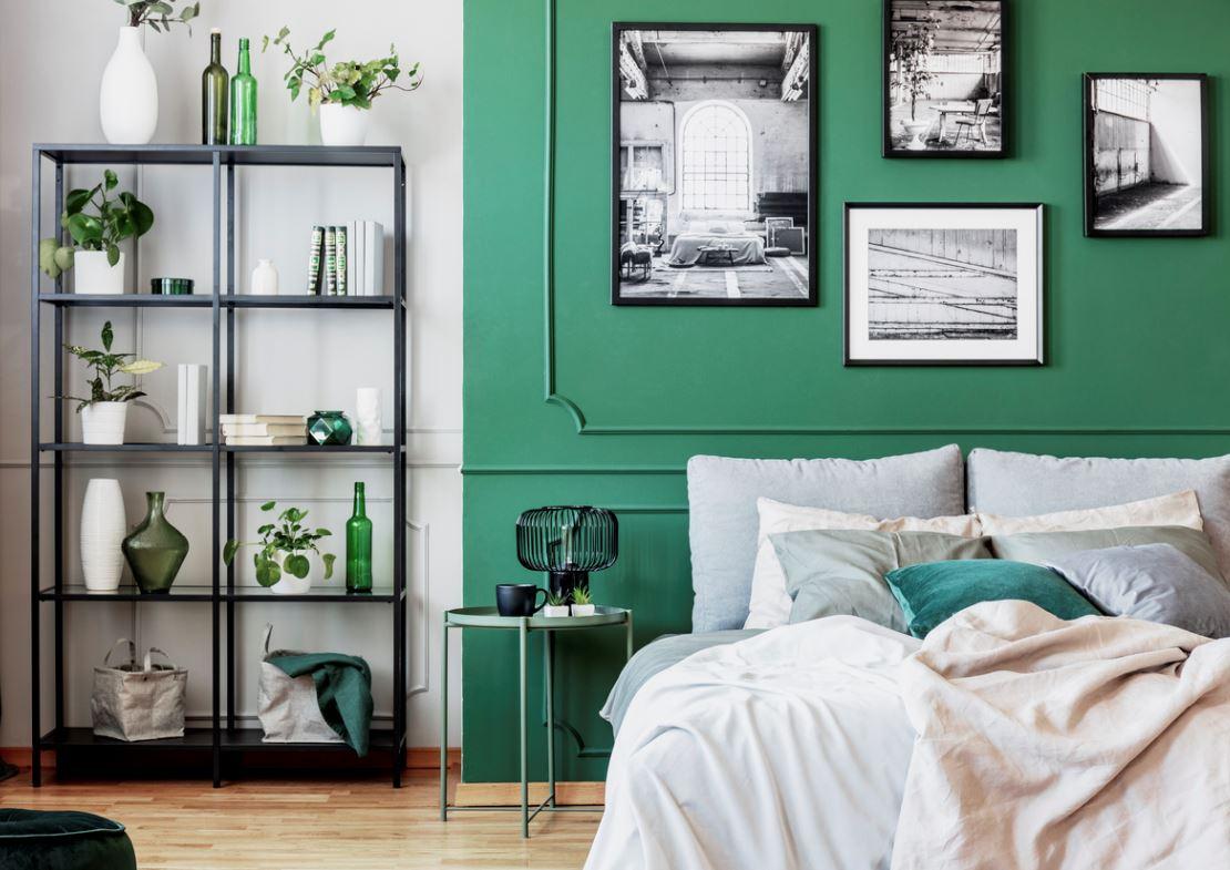 Chambre Verte Et Grise Pour Un Style Entre Naturel Et Contemporain
