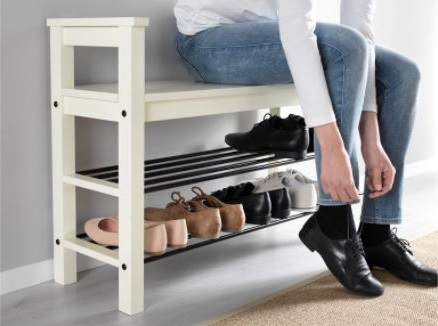 Meuble à Chaussures Combiné Avec Un Banc