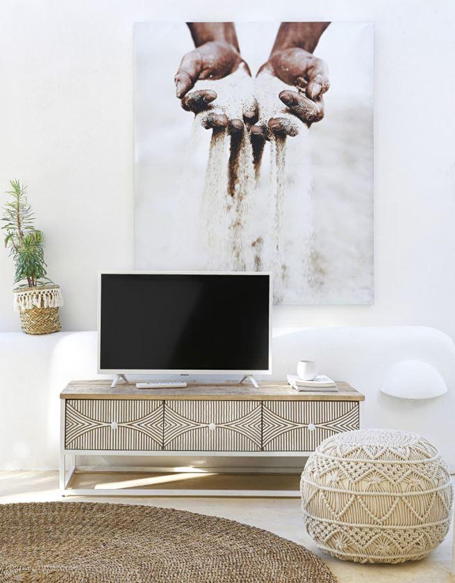 Meuble Tv Bicolore, En Manguier