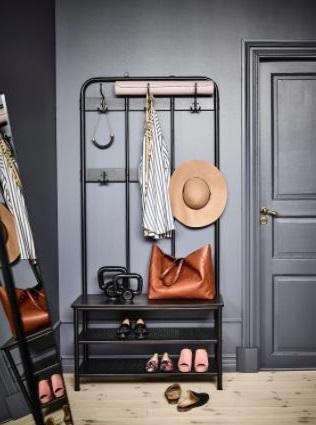 Porte Manteau Noir Pour Ranger Vos Manteaux Et Vos Chaussures