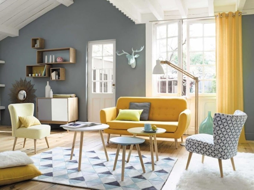 Tables Basses Gigognes à L'allure Vintage Et En Coloris Pastel