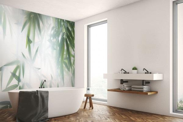 Papier Peint Bambou Lumineux