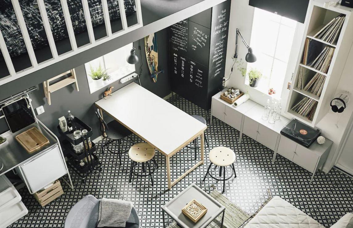 Un Appartement En Noir & Blanc