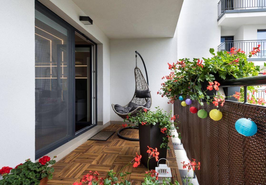 Balcon Fleuri Contemporain