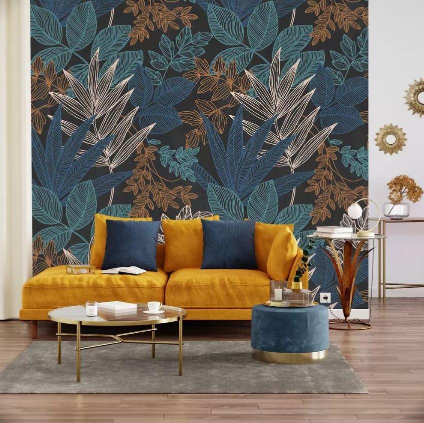Decor Mural Mahana En Bleu