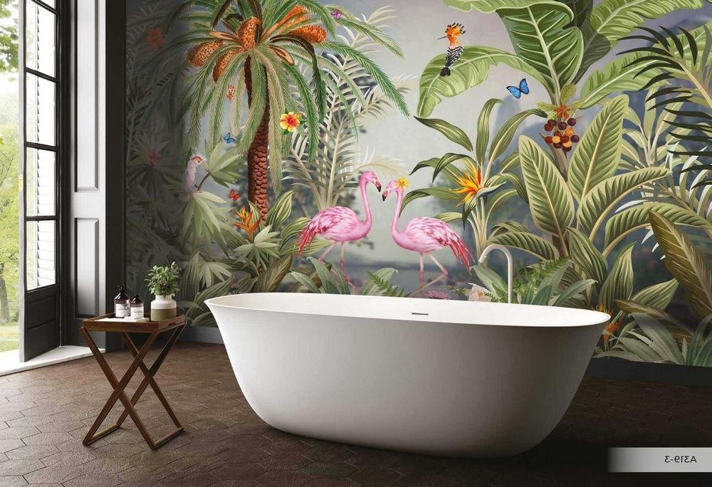 Papier Peint Flamant Rose & Jungle Amazon