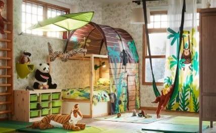Chambre Décorée Et Inspirée Du Monde De La Jungle