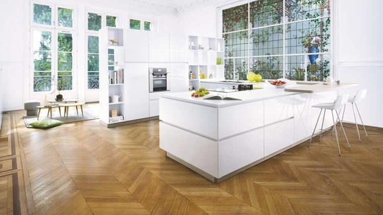 Cuisine Design Scandinave En Blanc Laqué