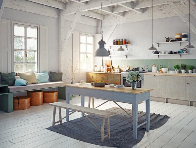 Cuisine Vintage De Style Scandinave