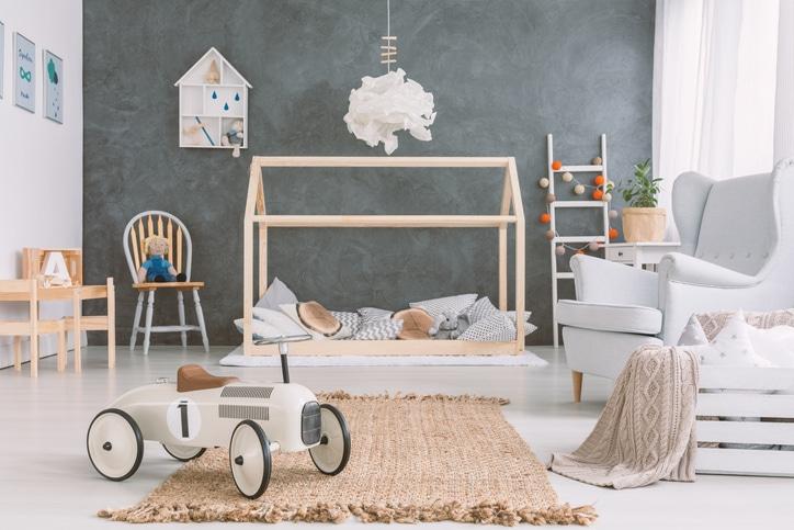 Lit Cabane De Style Scandinave Pour Une Décoration De Chambre D'enfant Nordique