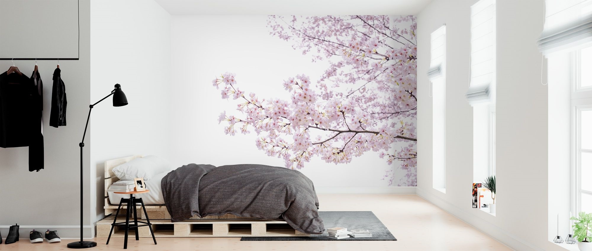 Papier Peint Panoramique Sakura Banc