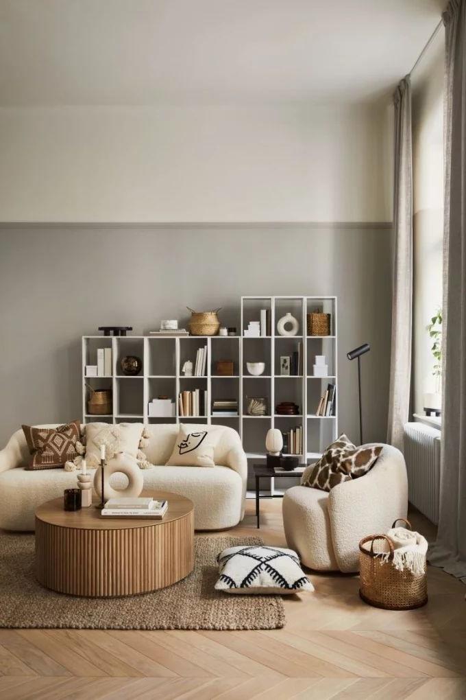 Salon Beige En Laine Et Coloris Taupe Cocooning