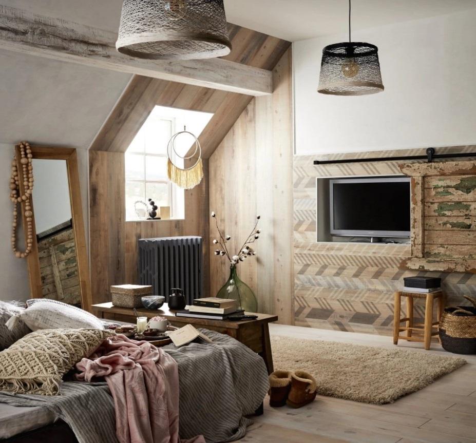 Chambre De Style Bohème En Bois