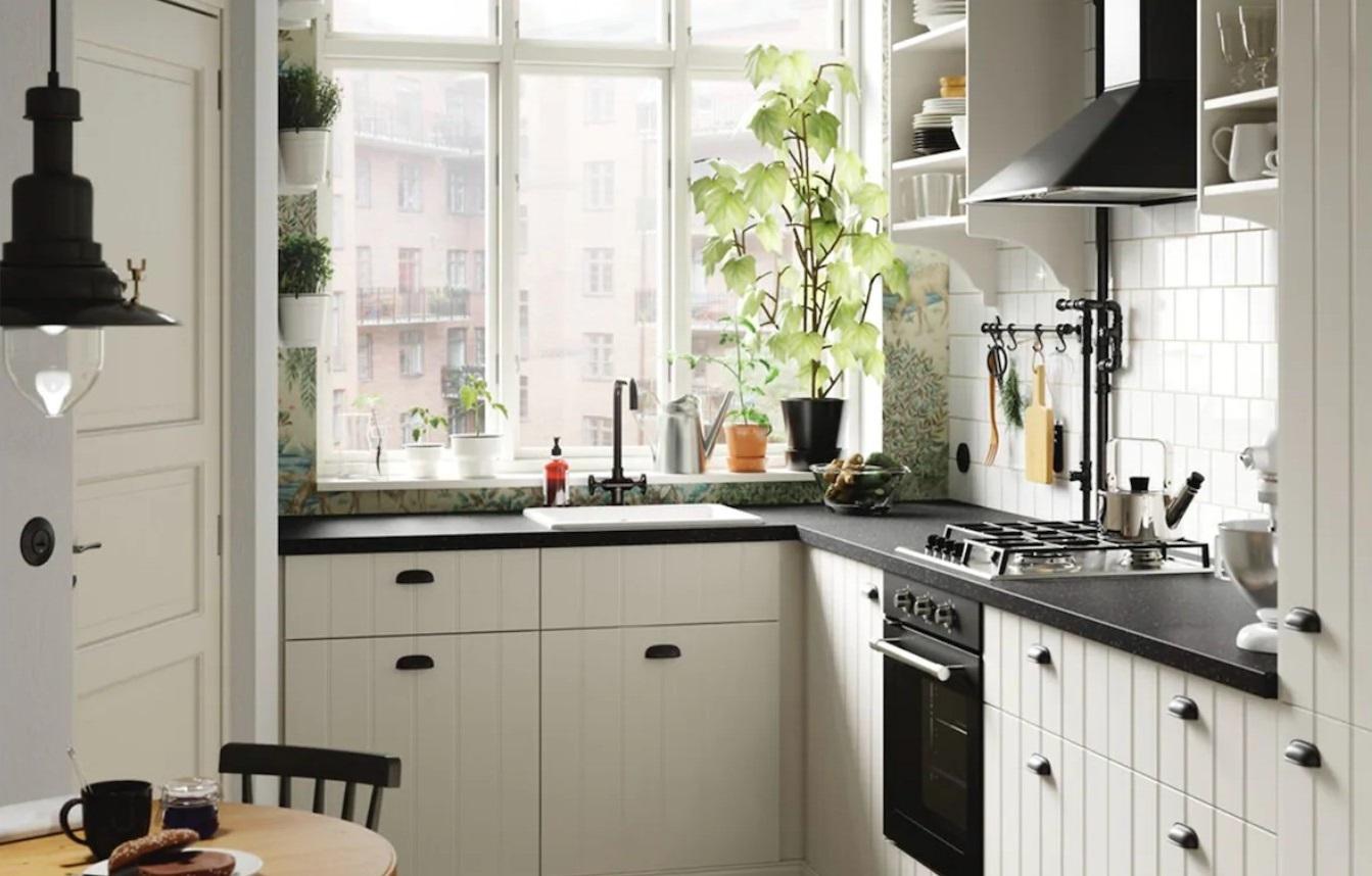 Cuisine Cottage Noire Et Blanche