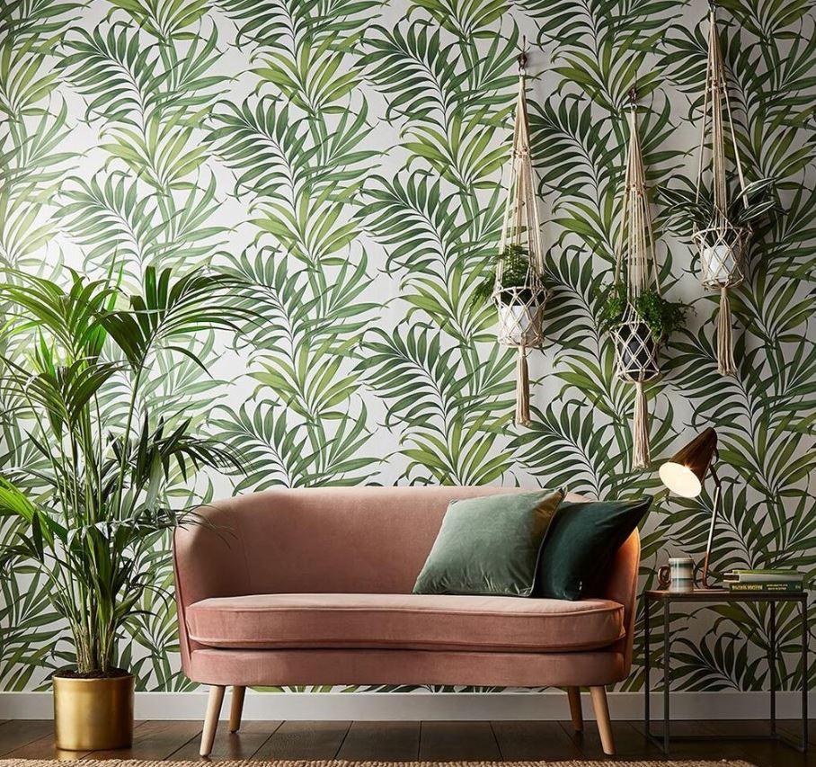 Du Vert Et Du Rose Pâle Pour Une Déco Tropicale