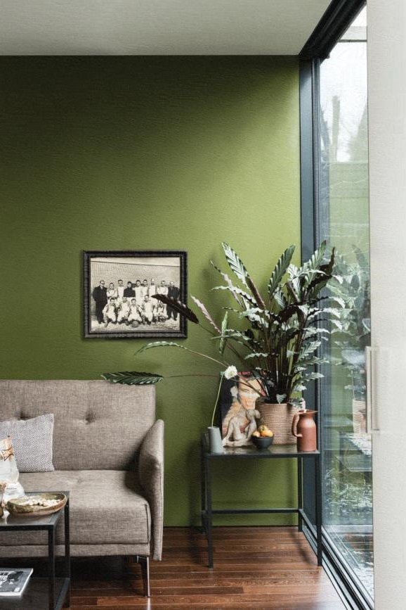 Mur D'accent Vert Olive –