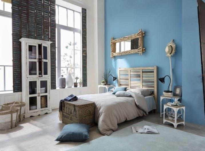 Chambre Dans Les Tons De Bleu Et Beige