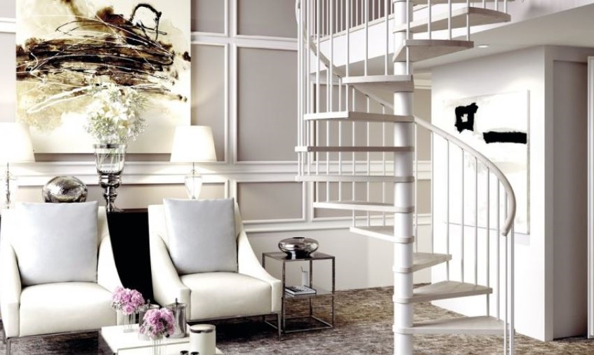Escalier En Colimaçon Blanc