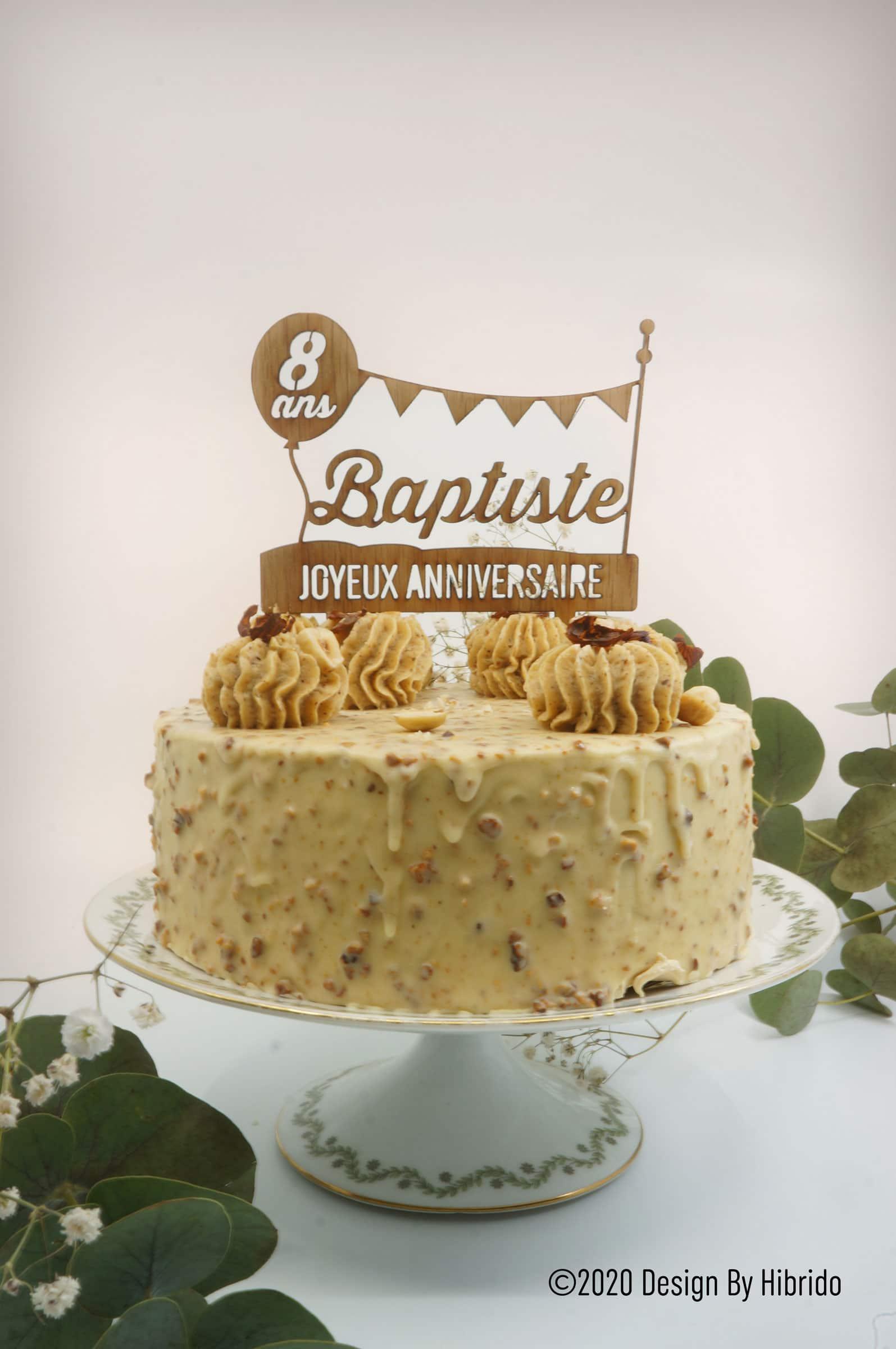 Cake Topper Personnalite