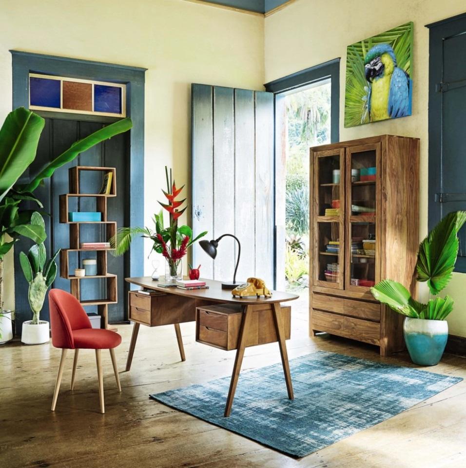 Un Bureau Dans Une Ambiance Tropicale