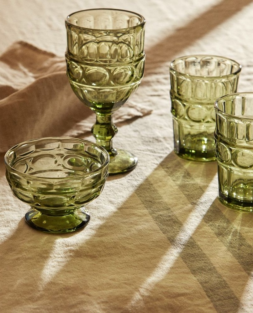Verre Vert Olive