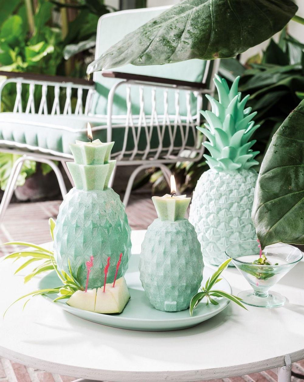 Bougies Ananas Vert Mint