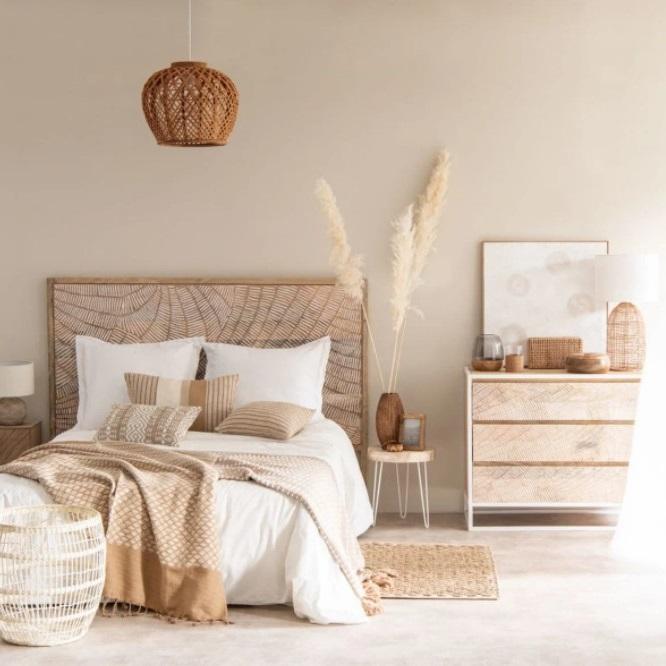 Chambre Nature Blanc Et Beige