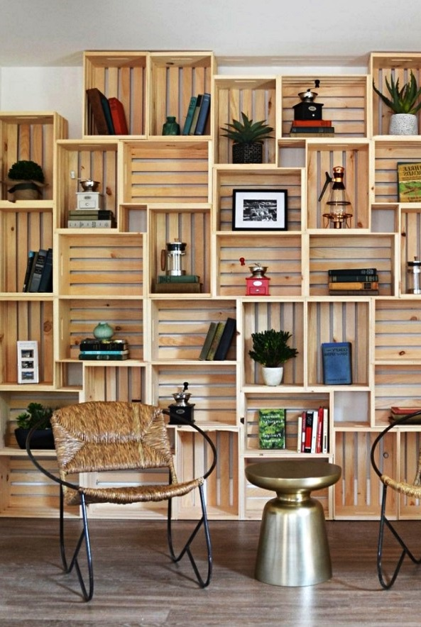 Murs En Caisses En Bois Ikea