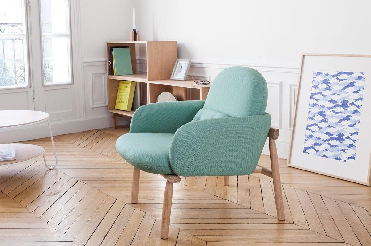 Fauteuil Design Organique Vert Clair