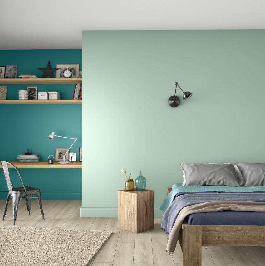 Vert Pastel, Vert Canard Et Bleu –